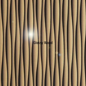 Fekete arany hullám magasfényű bútorlap 6176