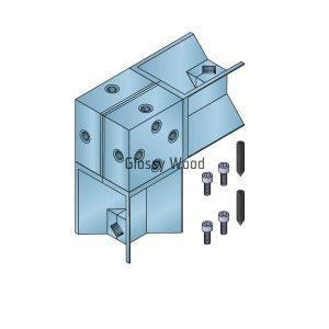 Alumínium asztal profil sarokcsatlakozó
