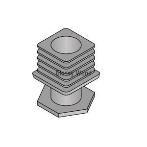 Alumínium asztal profil szintezőláb