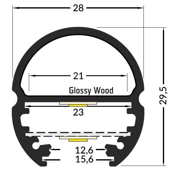 LED profil Oval